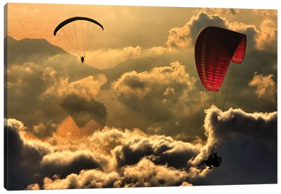 Paragliding II Canvas Art Print