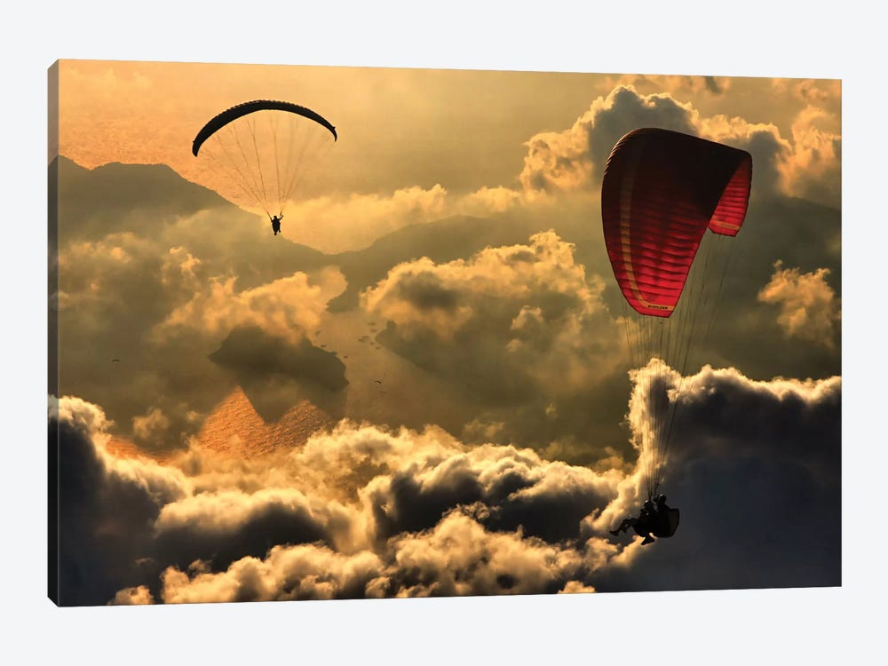 Paragliding II by Yavuz Sariyildiz 1-piece Canvas Art
