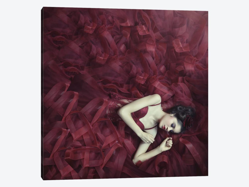 Red Blossom by hardibudi 1-piece Art Print