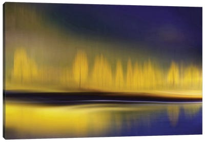 Yellow Night Canvas Art Print