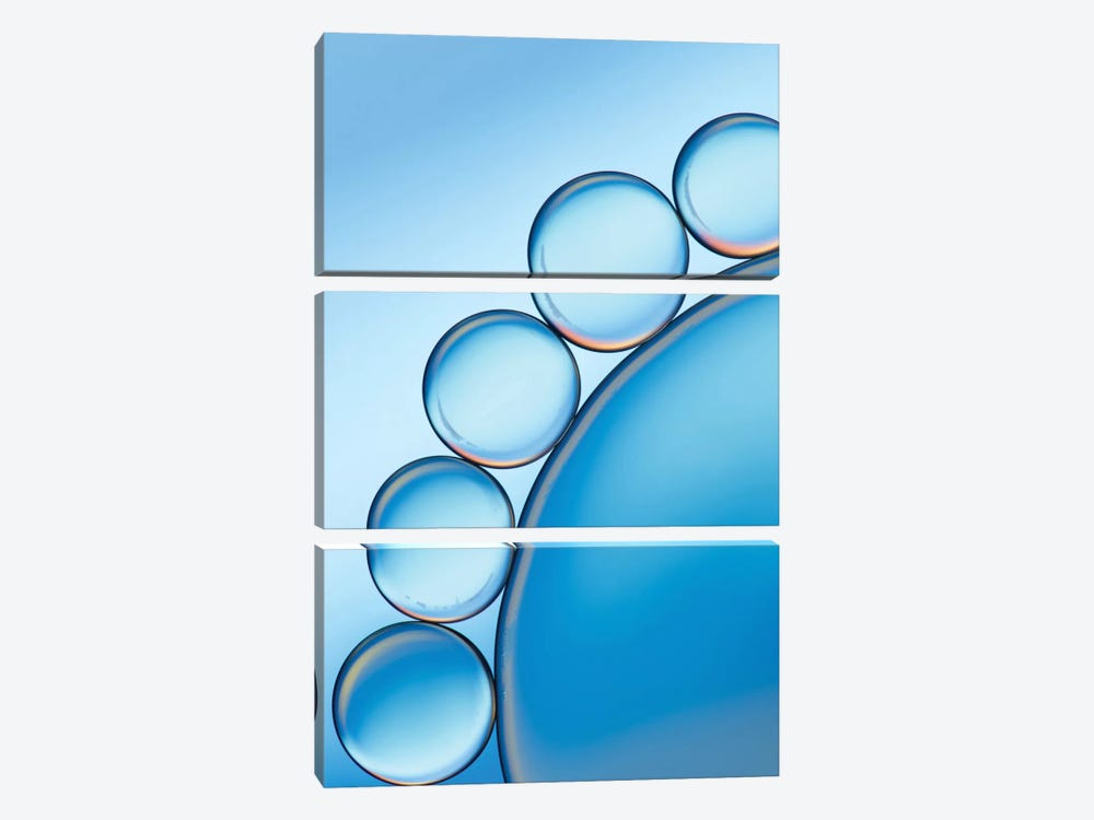 Cool Blue by Jacqueline Hammer 3-piece Canvas Artwork