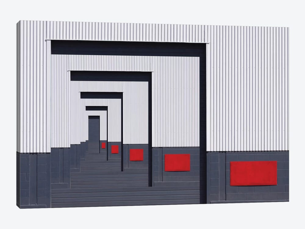 Red Rectangle by Jacqueline Hammer 1-piece Canvas Art