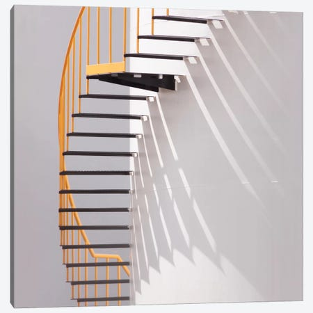 Yellow Staircase Canvas Print #OXM2309} by Jacqueline Hammer Art Print