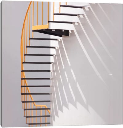 Yellow Staircase Canvas Art Print
