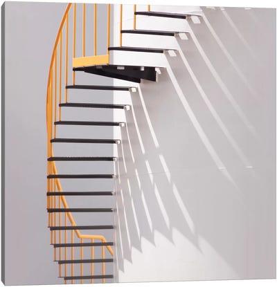 Yellow Staircase Canvas Art Print