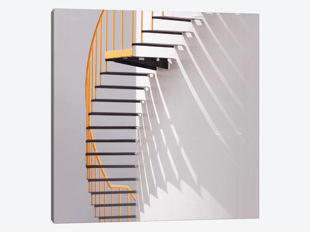 Yellow Staircase by Jacqueline Hammer 1-piece Canvas Artwork