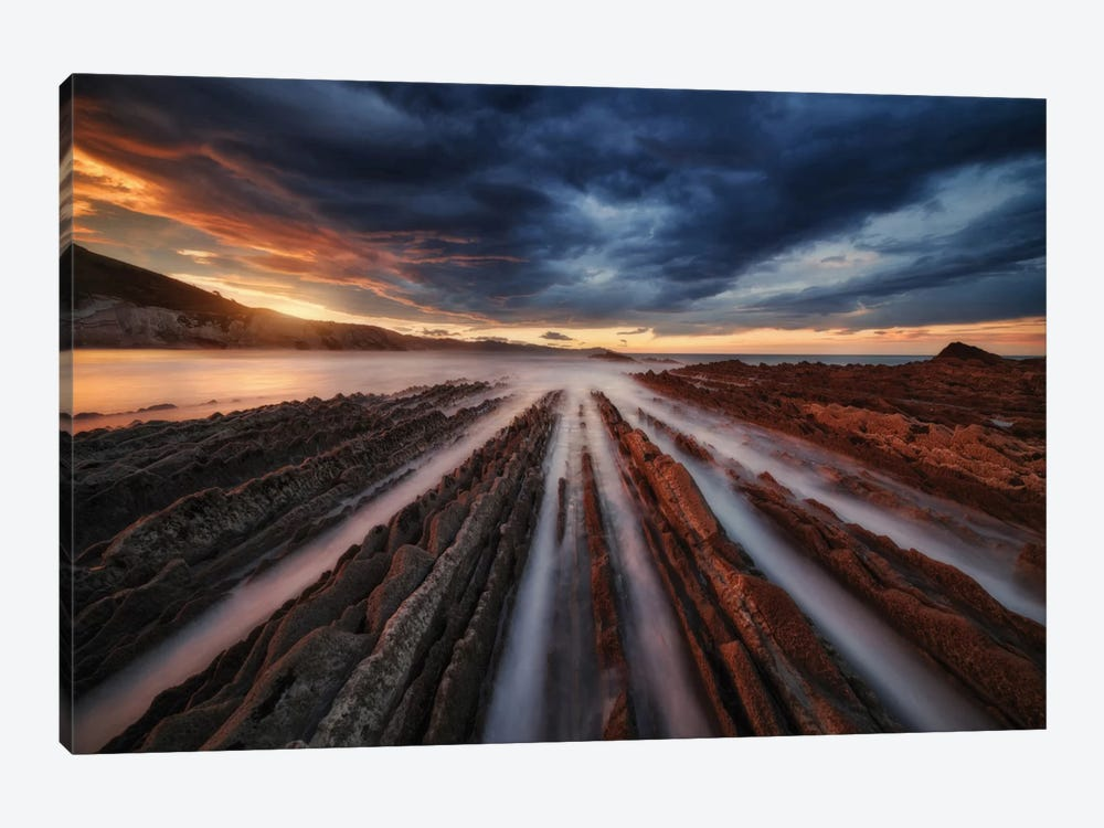 Zumaia Flysch VI 1-piece Canvas Artwork