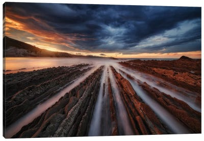 Zumaia Flysch VI Canvas Art Print