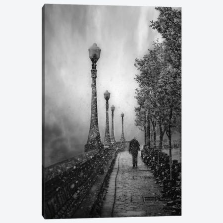 Gaz Bar Canvas Print #OXM2358} by David Senechal Photographie Canvas Wall Art