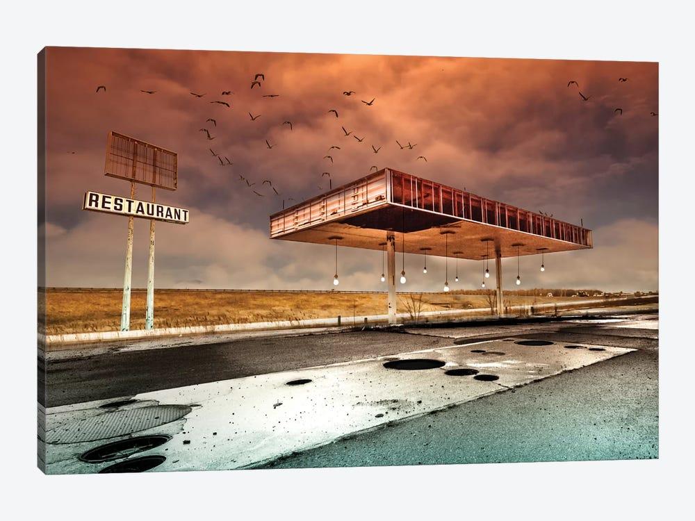 Gaz Bar Blues by David Senechal Photographie 1-piece Art Print