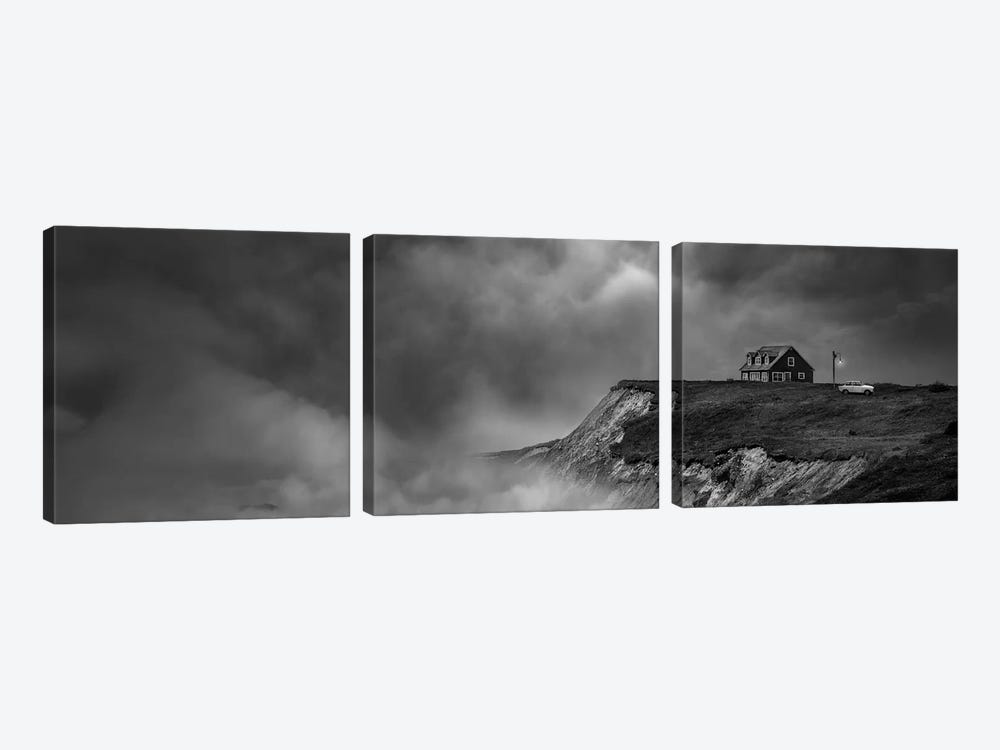 The Last House Near The End Of The World by David Senechal Photographie 3-piece Canvas Wall Art