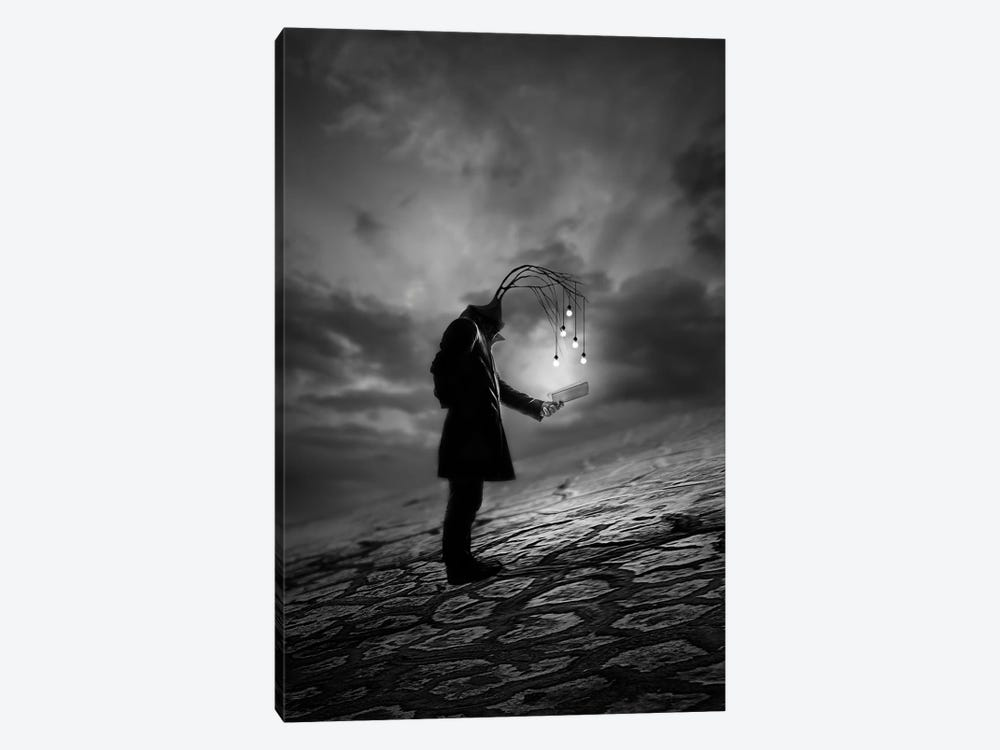 The Reader by David Senechal Photographie 1-piece Canvas Artwork