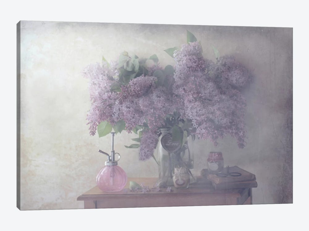 Sweet Lilacs by Delphine Devos 1-piece Canvas Artwork