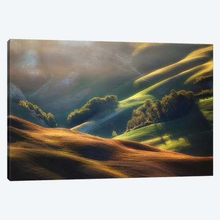Tuscany Sunrise Canvas Print #OXM2378} by Jarek Pawlak Canvas Wall Art