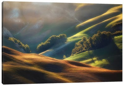 Tuscany Sunrise Canvas Art Print