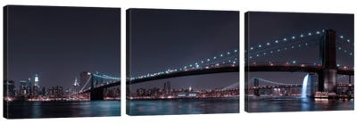Manhattan Skyline & Brooklin Bridge Canvas Art Print