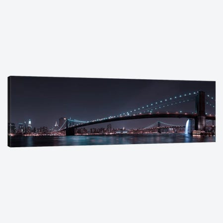 Manhattan Skyline & Brooklin Bridge Canvas Print #OXM237} by Fabien Bravin Canvas Artwork