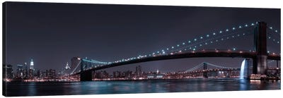 Manhattan Skyline & Brooklin Bridge Canvas Art Print