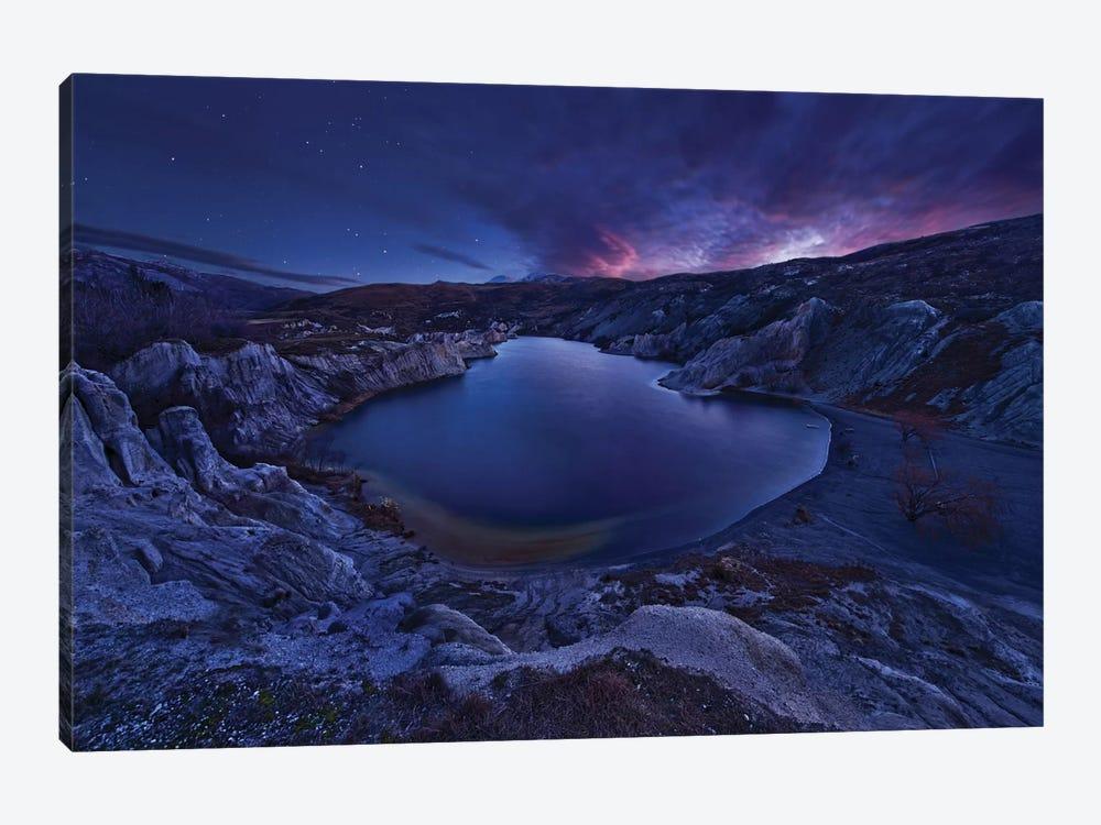 Blue Lake by Yan Zhang 1-piece Canvas Wall Art