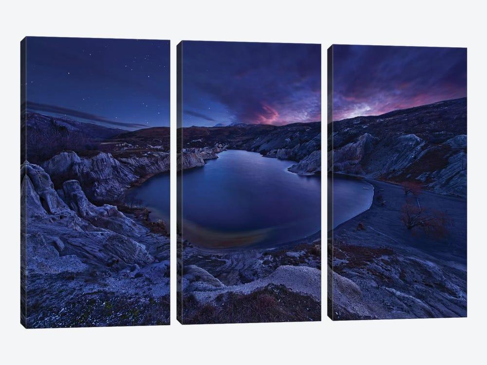 Blue Lake by Yan Zhang 3-piece Canvas Art
