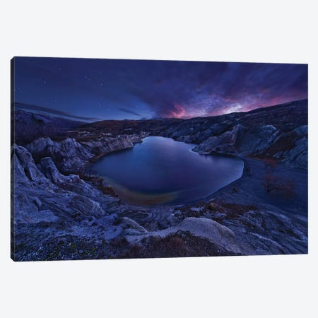 Blue Lake 3-Piece Canvas #OXM2381} by Yan Zhang Canvas Art Print