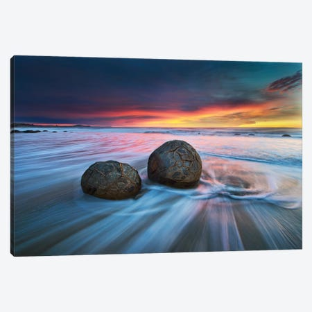 Moeraki Boulders Canvas Print #OXM2385} by Yan Zhang Canvas Wall Art