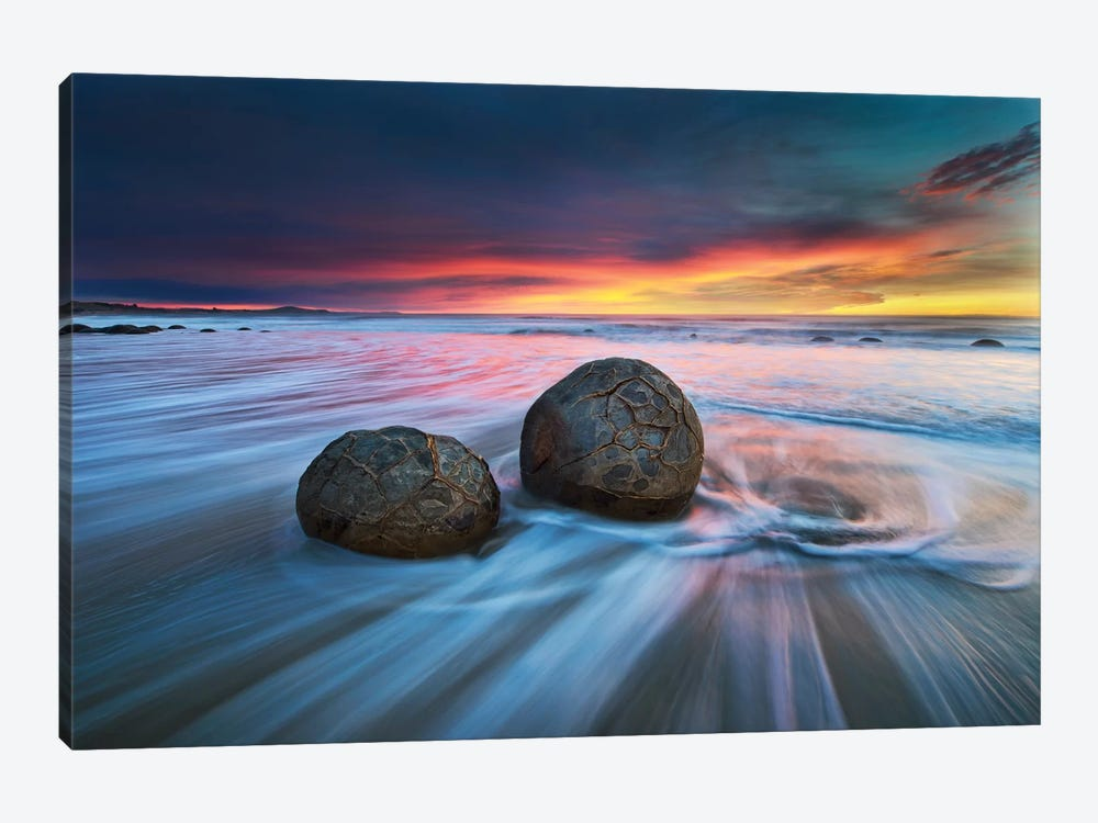 Moeraki Boulders by Yan Zhang 1-piece Canvas Artwork