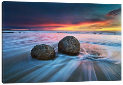 Moeraki Boulders Canvas Art Print
