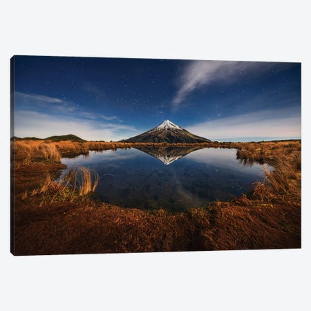 Mount Taranaki Under Moonlight 3-Piece Canvas #OXM2386} by Yan Zhang Canvas Art