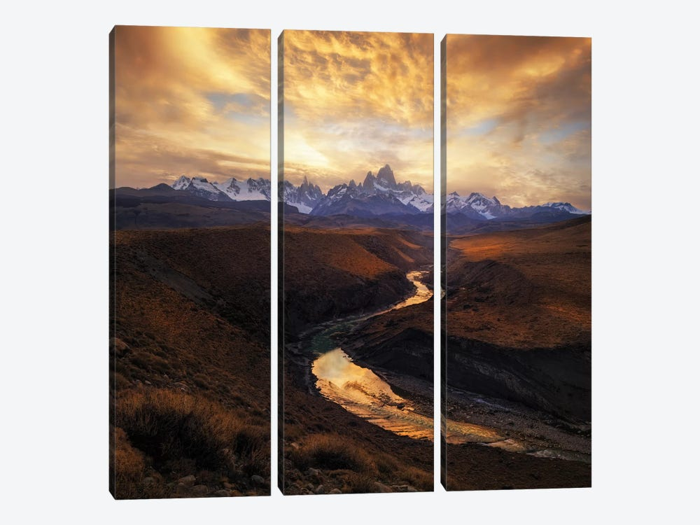 View From The Gorge by Yan Zhang 3-piece Canvas Art