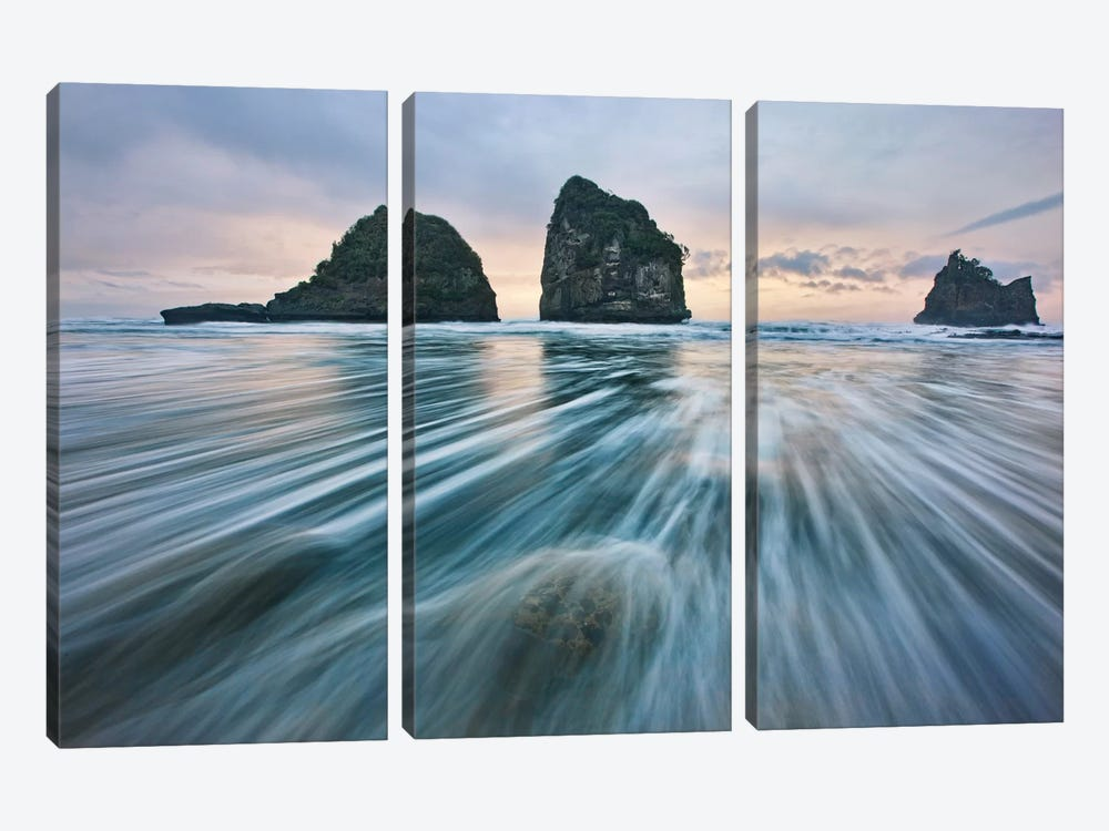 Wild West Coast by Yan Zhang 3-piece Canvas Wall Art