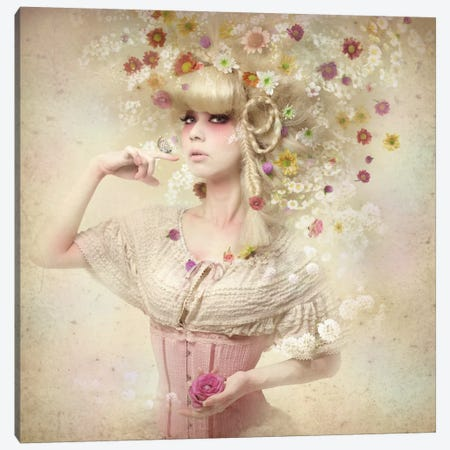 Girl Of The Flower Garden II Canvas Print #OXM2423} by Kiyo Murakami Canvas Artwork