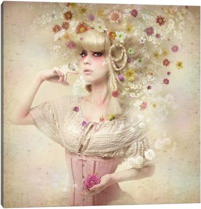Girl Of The Flower Garden II Canvas Art Print