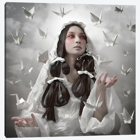 "Goddess Of ""Origami"" Canvas Print #OXM2424} by Kiyo Murakami Canvas Art Print"