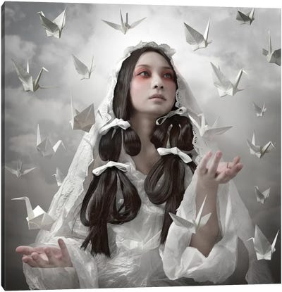 "Goddess Of ""Origami"" Canvas Art Print"