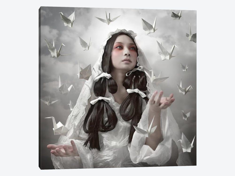 "Goddess Of ""Origami"" by Kiyo Murakami 1-piece Canvas Artwork"