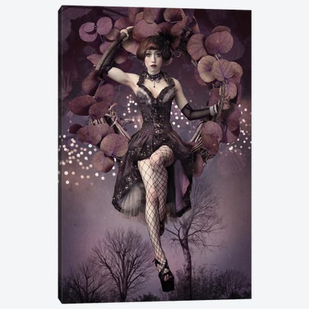 Night Aerial Girl Canvas Print #OXM2426} by Kiyo Murakami Art Print