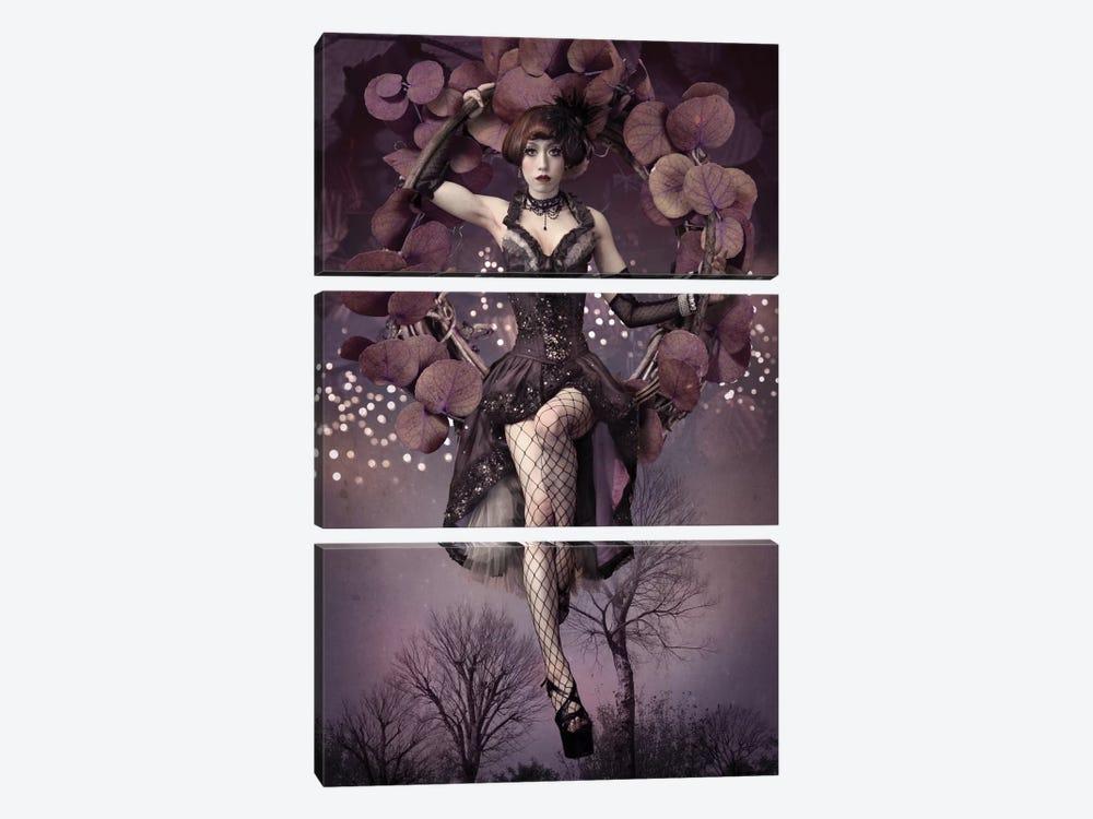 Night Aerial Girl by Kiyo Murakami 3-piece Canvas Art