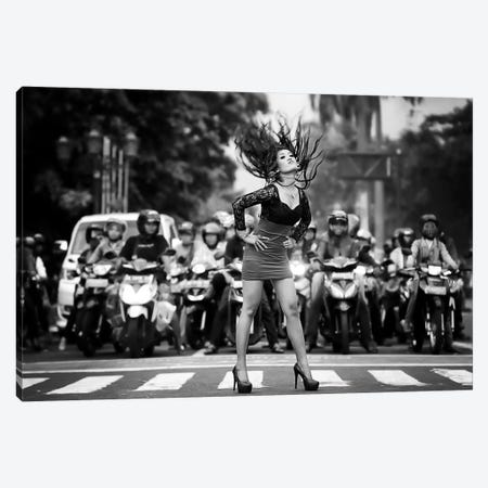 Ignore It, Enjoy Poses On The Streets Canvas Print #OXM2428} by m salim bhayangkara Canvas Artwork