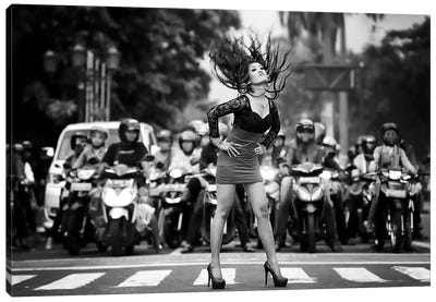 Ignore It, Enjoy Poses On The Streets Canvas Art Print