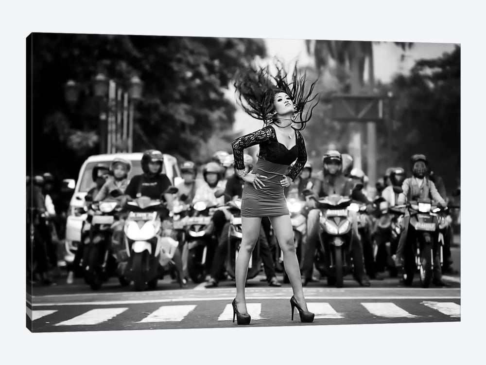 Ignore It, Enjoy Poses On The Streets by m salim bhayangkara 1-piece Canvas Art