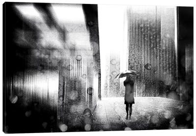 A Rainy Day In Berlin Canvas Art Print