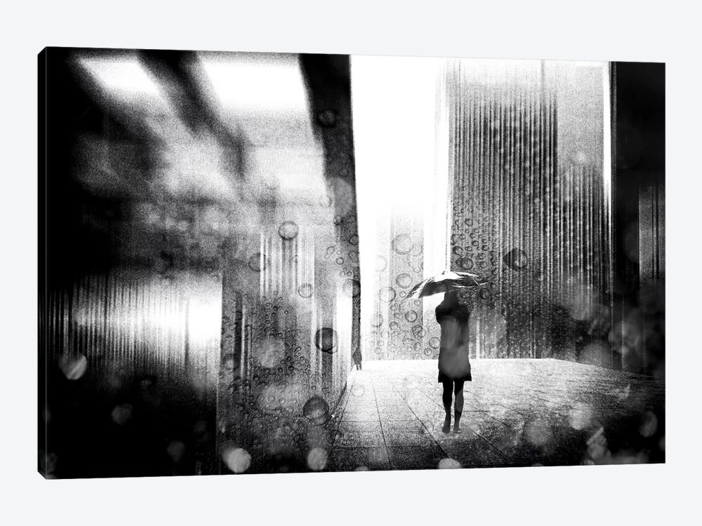 A Rainy Day In Berlin 1-piece Canvas Art