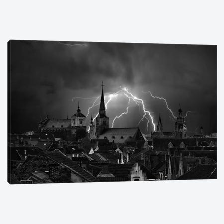 Chaos In The Sky Of Bruges Canvas Print #OXM2485} by Yvette Depaepe Canvas Print