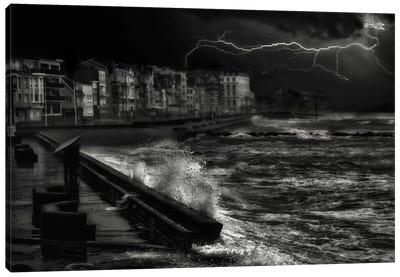 Dark Stormy Evening In Normandy Canvas Art Print