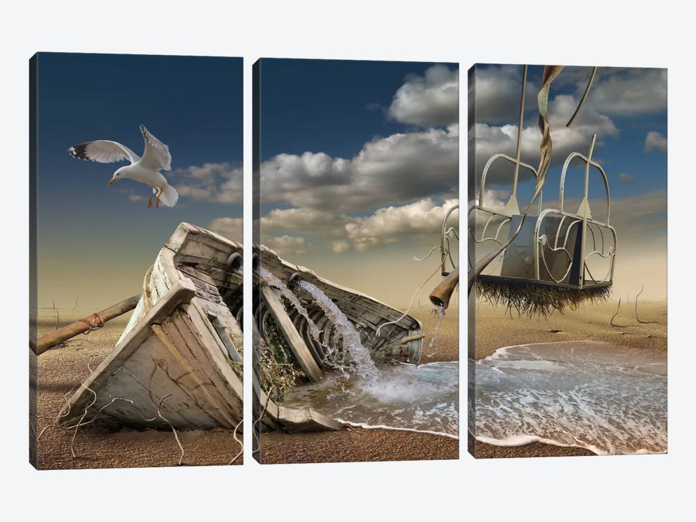 Surreal I by Radoslav Penchev 3-piece Canvas Print