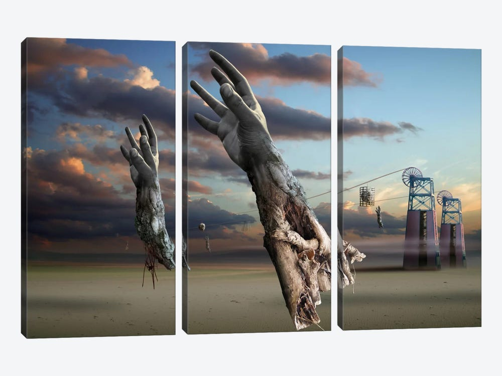 Surreal VI by Radoslav Penchev 3-piece Canvas Artwork