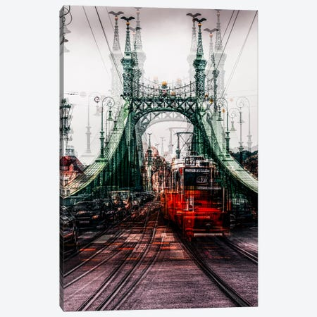 On The Tram Canvas Print #OXM2514} by Carmine Chiriaco Art Print