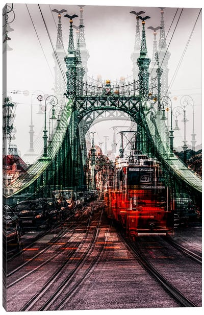 On The Tram Canvas Art Print