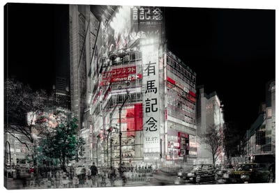 Street Life In Tokyo Canvas Art Print